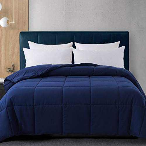 Cosybay King Size Comforter Navy Blue, Down Alternative Bed Comforter, Lightweight Duvet Insert with Corner Tabs(102×90 Inch)