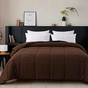 Cosybay King Size Comforter Chocolate, Down Alternative Bed Comforter, Lightweight Duvet Insert with Corner Tabs(102×90 Inch)