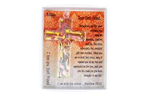 Keepsake Cross in Gift Box with Poem and Bible Verse, for Best Friend, Handmade Religious Gift of Faith