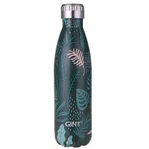 GiNT Stainless Steel Vacuum Insulated Double Walled Water Bottle for Outdoor Sports, Cola Shape,Travel Mug, 17oz / 500ML Green Leaf