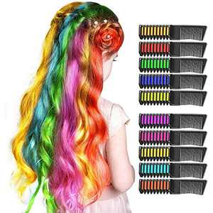 Upgraded Hair Chalk for Girls, Kids Toys for 3-15 Year Old Girls Gifts for 5-15 Year Old Teen Girl Temporary Dye Kids Makeup Kit for Girl Birthday Gifts Age 5-15 (10PCS)
