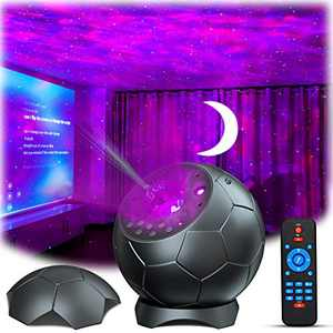 Laser Star Projector, Lupantte Moon Projector, USB Nebula Galaxy Light with Soothing Aurora Effects, Bluetooth Speaker, Sound Activated, Starry Night Light Projector for Bedroom, Party Light Decor.