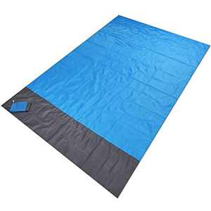 Beach Blanket Sandproof, Alchilalart Sand Free Sand Blanket Outdoor Sandproof and Waterproof Quick Drying Beach Mat, Portable Pocket Picnic for Outdoor Travel, Camping, Hiking and Music Festivals