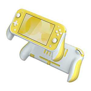 Azakio, Grip case for Nintendo Switch Lite,Ergonomic Nintendo Switch Lite Hand Grip, Accessories for Switch Lite (Yellow)
