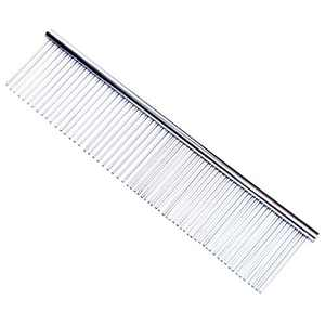 ANMAIKER Dog Combs, Stainless Steel Straight Comb for Dogs and Cats, 7.5 x 1.5 in