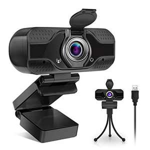 CHWARES Webcam HD 1080p Web Camera, USB PC Computer Webcam with Microphone & Privacy Cover, 110 Degree Wide Angle Streaming Webcam for Recording, Calling, Conferencing, Gaming, Webcam Stand Included