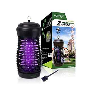 Econext UL Certified Electric Bug Zapper Insect Killer - 15W UVA Black Light - Waterproof Mosquito Eradicator, Fly Trap Lamp for Indoor/Outdoor Patio - High Electricity Grid - Extra Long 5' Power Cord