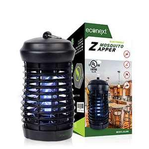 Econext UL Approved Electric Bug Zapper Insect Killer, Mosquito Eradicator Lamp, Fly Trap Indoor 8W UV Light w/ Extra Long 5' Power Cord - High Electric Zapping Grid