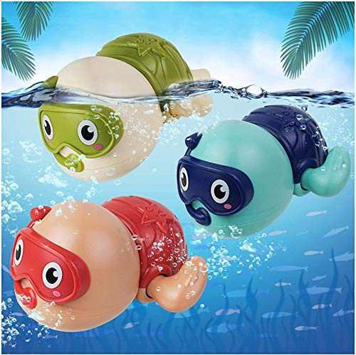 AOLUXLM Bath Toys Bathtub Toys for Boy Girl Cute Swimming Turtle Bath Toys for Toddlers Gift for 1 Year Old Boy Girl 3pcs Set