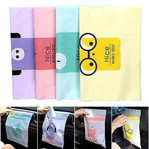 60PCS Easy Stick-On Disposable Car Trash Bag, Leakproof Vomit Bag, Beautiful Kitchen Storage Bag, Durable, Suitable for Cars, Kitchens, Bedrooms, Study Rooms, Travel, Camping, Office Spaces