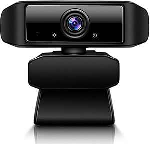 Webcam with Microphone1080P Full HD for Video Live Streaming, Desktop or Laptop USB Web Camera with Auto Light Correction, for Windows Mac OS, Conference, Gaming, Online Classes