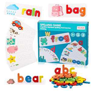 Preschool Learning Toys for Toddlers 1-3, Alphabet Puzzles for Toddlers 3 Year Old Girl Xmas Gifts Educational Toys for 2 Year Old Boys Sight Words Flash Cards Kindergarten Homeschool Supplies, Green