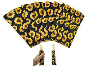 10 Piece Sunflower Neoprene Ice Pop Sleeves Popsicle Holders Bags for Kids and All