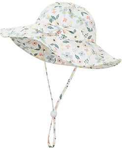 Urban Virgin Baby Sun Hat Summer Baby Boy Hats UPF 50+ Sun Protection Toddler Hat Bucket for Baby Girl Adjustable Kid Cap