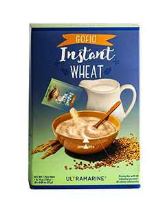 Ultramarine Instant Wheat, Ground Roasted ( Gofio de Trigo Canario ) Net Wt. 1 lb. 10 oz. ( 750 g) Box Display With 30 x 0.88oz ( 25 g) One Serving Individual Sachets (Wheat, Pack of 1)