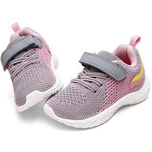 STQ Toddler Girl Shoes, Lightweight Tennis Running Athletic Sneakers for Active Play Pink 10 M US Toddler
