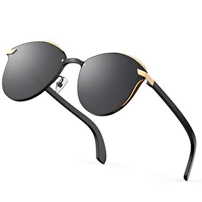 Cavir Polarized Sunglasses for Women UV400 Protection Fashion Metal Frame