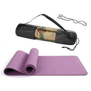 """BHANU Yoga Mat 1/4in Thick Yoga Mat Soft and Comfortable with Yoga Bag and Strap for Yoga, Pilates and Floor Exercises 70.6"""" x 23.8"""" x 1/4"""""""
