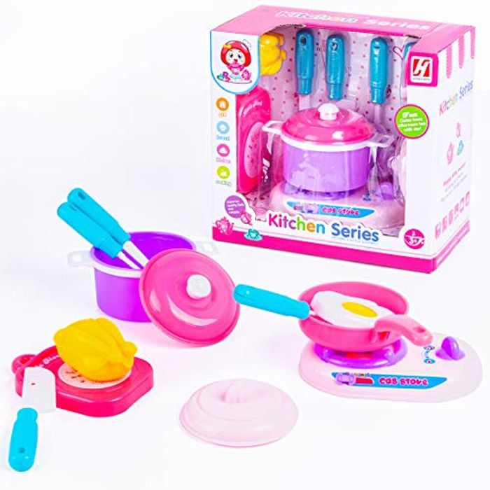 NYOKU Kitchen Pretend Accessories Set Toys Role Play Toys Gifts for Kids