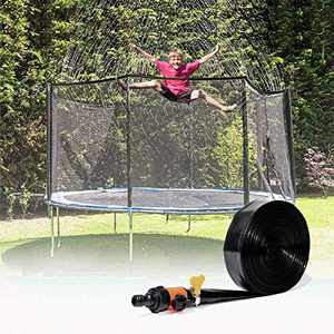 FJYQOP Trampoline Sprinkler Waterpark, Outdoor Water Game Sprinkler for Trampoline, Fun Summer Backyard Water Park Toy for Boys and Girls