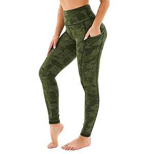 GAYHAY High Waist Pattern Leggings with Pockets for Women - Tummy Control 4 Way Stretch Yoga Pants