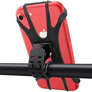 Bike Phone Mount- Silicone Cellphone Holder for Car, Universal Phone Stand 360 Adjustable Phone Holder for Bike Motorcycle Compatible with iPhone 12 Pro/12 mini/Se/11 Pro/11/XS/XR/X/8/7/6