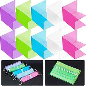 30 Pieces Face Cover Storage Clip Plastic Storage Holder Organizer Dustproof Reusable Foldable Ear Tie Folder for Portable Carry