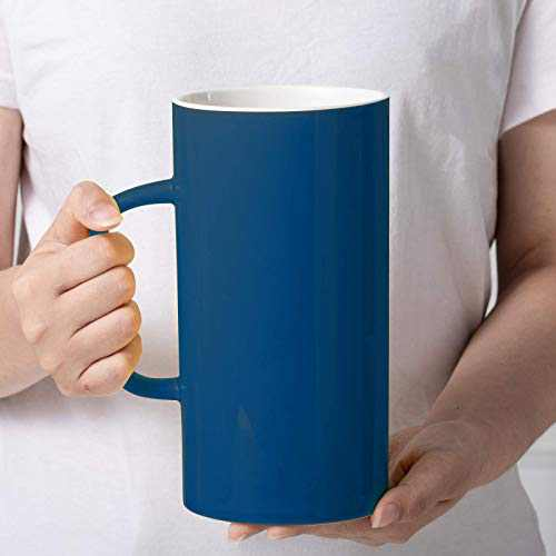 Extra Large Coffee Mug 43OZ beer mug Large Capacity Mug Water Mug Novelty Ceramic Mug Funny Large Office Coffee Mug can be used for desk decoration novelty Gift Coffee Lovers (blue)