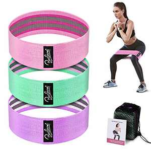 BestSounds Resistance Bands for Legs and Butt, Workout Bands Wide Exercise Bands Hip Fabric Loop Bands Fitness Bands, Non-Slip Gym Booty Bands for Men and Women (Set 3)