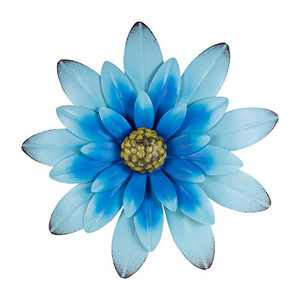 """Farmhouse Wall Decor, Hanging Rustic Metal Flower for Wall, 12"""" Blue Multiple Floral Wall Decorations for Indoor and Outdoor"""