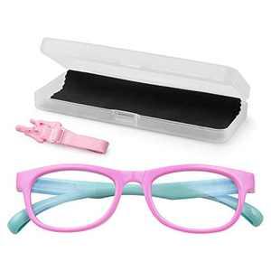 KinCam Kids Blue Light Blocking Glasses Anti Glare Lens Lightweight Frame Computer Eyeglasses for Girls