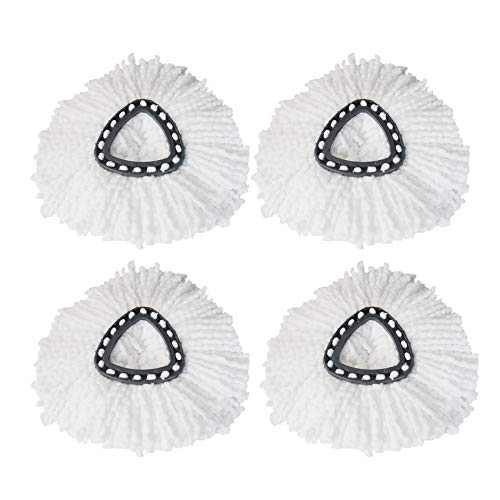Mop Heads Replacements for Microfibers Mop Head Refills, Easy Cleaning Spin Mop Replacement Head(4 Pack)