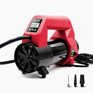 NoOne Upgraded Portable Air Compressor Tire inflator, Mini 12V Dual Cylinder Digital Gauge Air Pump with Emergency LED Light for Car Bike Tires and Other Inflatables, Auto Pump/Shut Off Feature