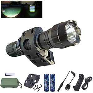 VASTFIRE Zoomable MLOK Flashlight Compatible with MAGPUL Handguard with Screws and backers, Adjust Spotlight Light Single Mode with Pressure Switch and 18650 Battery (MLOK Flashlight) (B)
