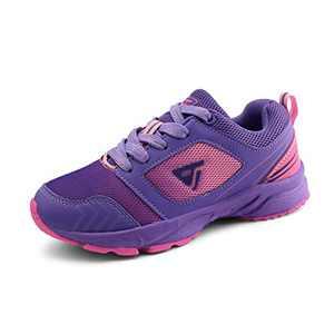 JABASIC Kids Running Tennis Shoes Lightweight Casual Walking Sneakers (5,Purple)