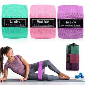 Funyole Exercise Resistance Bands for Legs and Butt, Hip Circle Bands for Squat Glute Training, Workout Exercise Booty Bands with Carry Case for Women Indoor Fitness (3 Set)