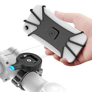"""SOKUSIN Bike Phone Mount, Aluminum Alloy One Second Release Bicycle Holder,Universal Motorcycle Handlebar Mount Compatible with iPhone 11 Pro Max/XR/XS Max/8/7/ Plus,Galaxy S20/S9, 4.7""""-6.5"""" Phones"""