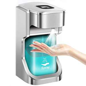 Awolf Automatic Alcohol Soap Dispenser Touchless, 500ml Large Capacity Countertop/Wall Mounted Alcohol Soap Dispenser for Kitchen Bathroom Hospital Office - Waterproof Base