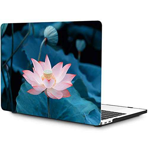 OneGET Laptop Case for MacBook Pro 16 inch Case(2019 Release A2141), Painting Flower Pattern Hard Case with TPU Keyboard Skin & HD Screen Protector(F61)