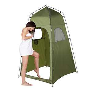 6.4FT Portable Privacy Tent, Privacy Tent for Portable Toilet Privacy Tent for Portable Toilet Shower, Camp Toilet, Changing Room, Rain Shelter with Window for Camping and Beach, Easy Set Up