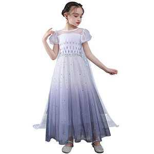 HUA ANGEL Girls Princess Costume Star Sequin Snowflake Halloween Party Dress with Cloak