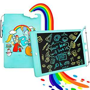 LUOHE LCD Writing Tablet Doodle Board, 10 Inch Erasable Colorful Drawing Tablet Writing Pad Kids Early Educational Drawing Tablet Learning Toy Gift for 3/4/5/6 Years Old Girls Boys, Blue