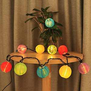 Vigdur Fairy - Lantern String Lights Waterproof Connectable Hanging Light Plug in Multicolor-Decorative for Patio Wedding Party Bedroom Indoor Outdoor Use,Black Cord,9.84FT