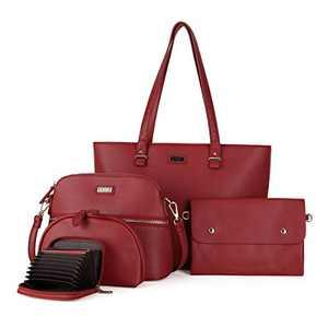 Women Shoulder Handbag Purse Top-Handle Hobo Roomy Casua Ladies' Shoulder Bag Fashion PU Tote Satchel Bag for Wome (2061#K122#270RED)