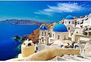 "1000 Piece Jigsaw Puzzle, Aegean Sea Floor Puzzle for Teens Adult (27.56"" x 19.69"")"