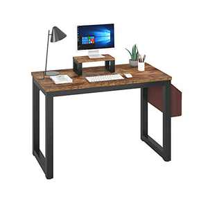 Magic Life Computer Desk Laptop Desk 47 Inch for Home Office,Simple Writing Desk with Storage Bag and Headphone Hook,Modern Style PC