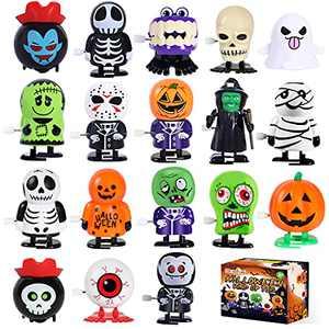 Max Fun 18 Pack Halloween Wind Up Toys Assortment for Halloween Party Favors Treat Bag Stuffers Goody Bag Filler (Halloween)