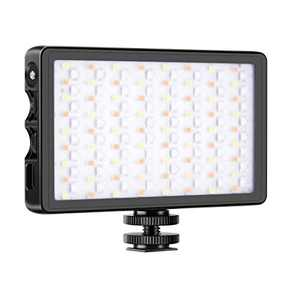 Neewer SL-140 RGB LED Light, Full Color Rechargeable Pocket Size LED Video Light for Camera Camcorder, CRI 97/2500-9000K/0-360Adjustable Colors/20 Applicable Situation/Aluminum Alloy Shell with Magnet