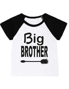 Aslaylme Little Boys Big Brother T-Shirt Kids Funny Tops (Black02,4T)