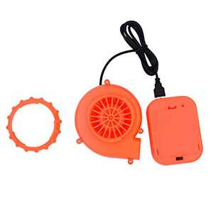 Arokibui USB Mini Upgrade Inflatable Costume Fan Replacement Blow up Blower Potable Fans for Dinosaur Inflatable Costume Doll Mascot Head or Other Inflatable Game Clothing Orange